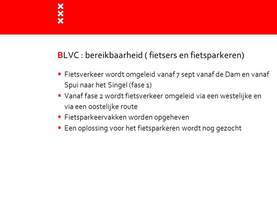 BLVC : bereikbaarheid ( fietsers en fietsparkeren)