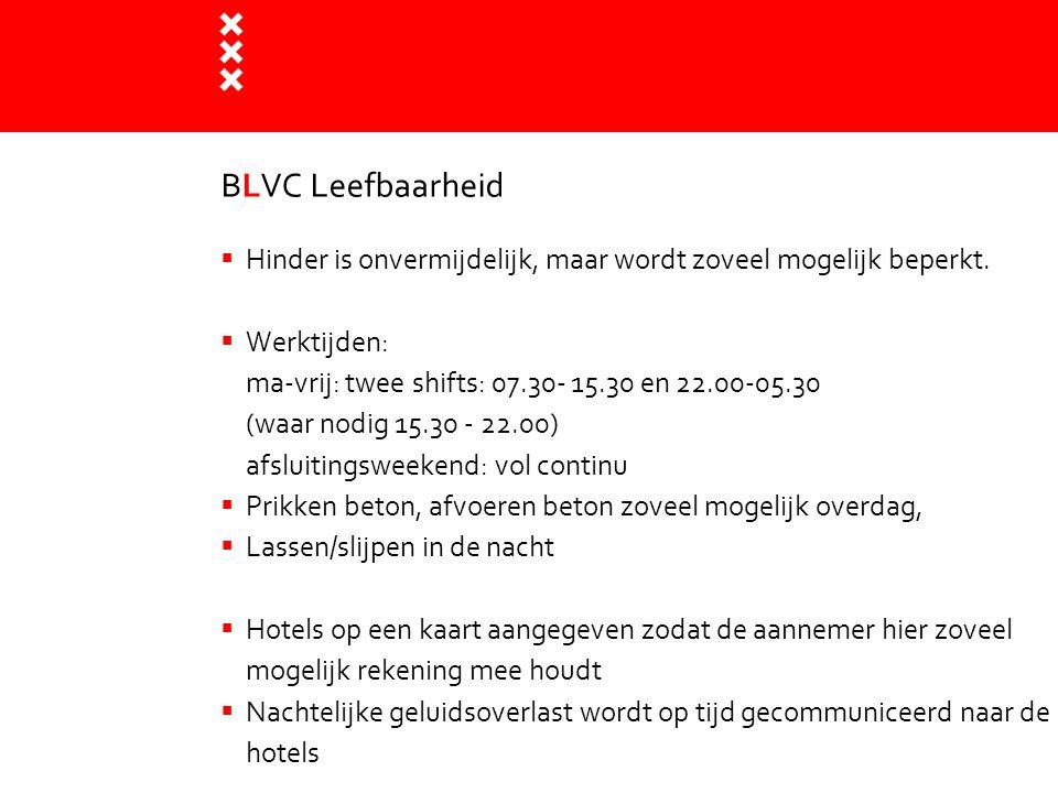 Titel presentatie BLVC Leefbaarheid. Hinder is onvermijdelijk, maar wordt zoveel mogelijk beperkt.