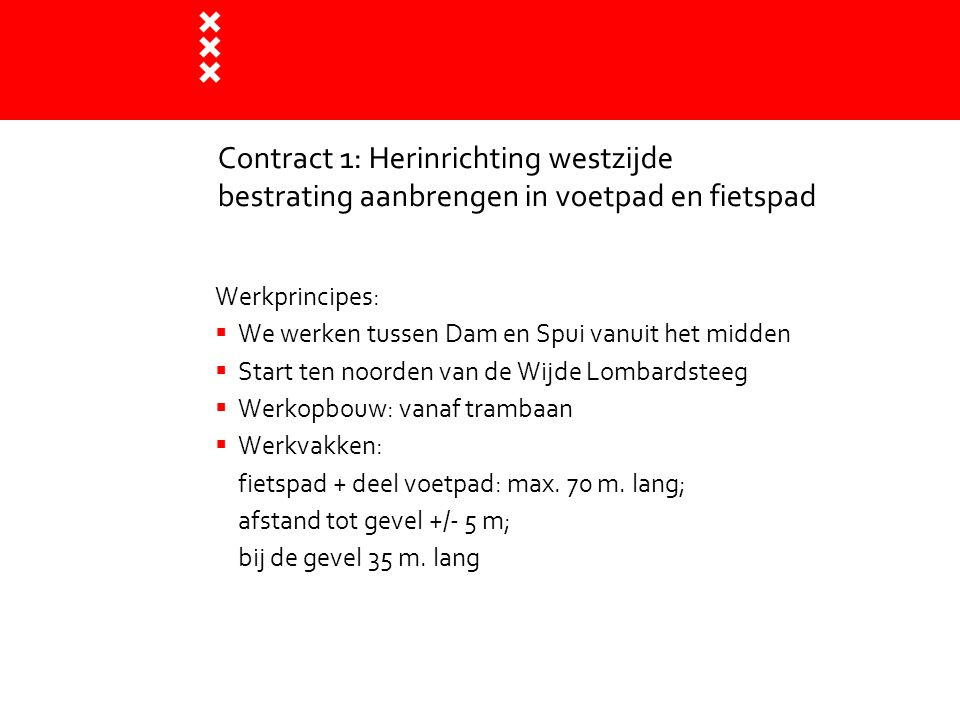 Contract 1: Herinrichting westzijde