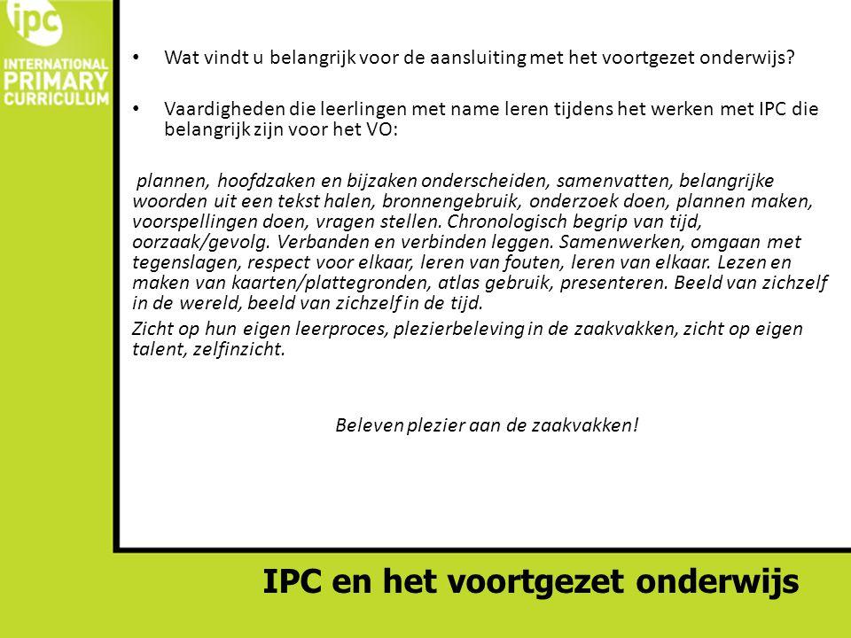 IPC en het voortgezet onderwijs