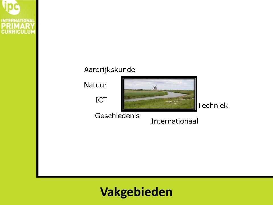 Relatie gezien tussen de vakgebieden vanuit één thema> voorbeeld Nederland waterland.