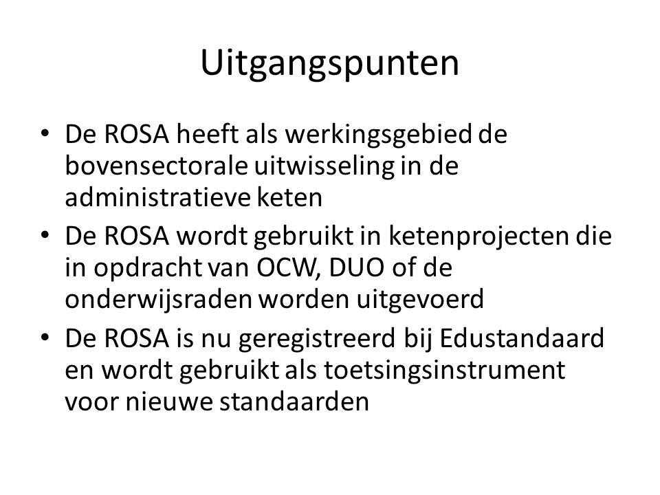 Uitgangspunten De ROSA heeft als werkingsgebied de bovensectorale uitwisseling in de administratieve keten.