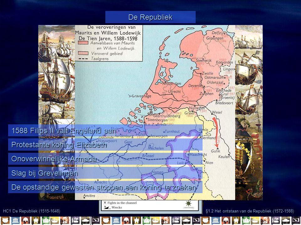 1588 Filips II valt Engeland aan