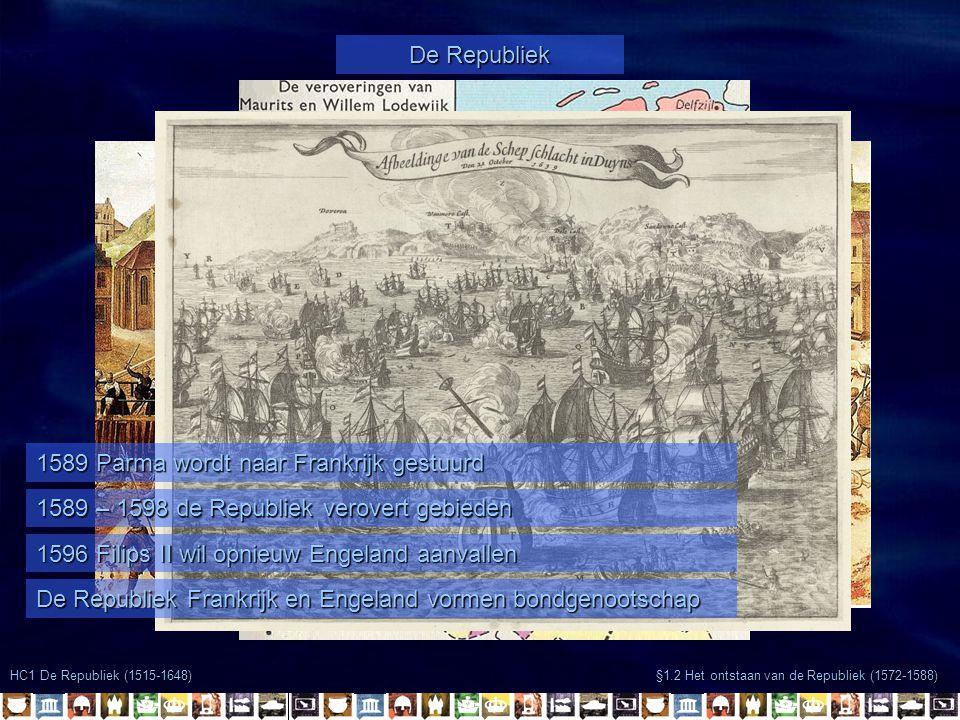 1589 Parma wordt naar Frankrijk gestuurd