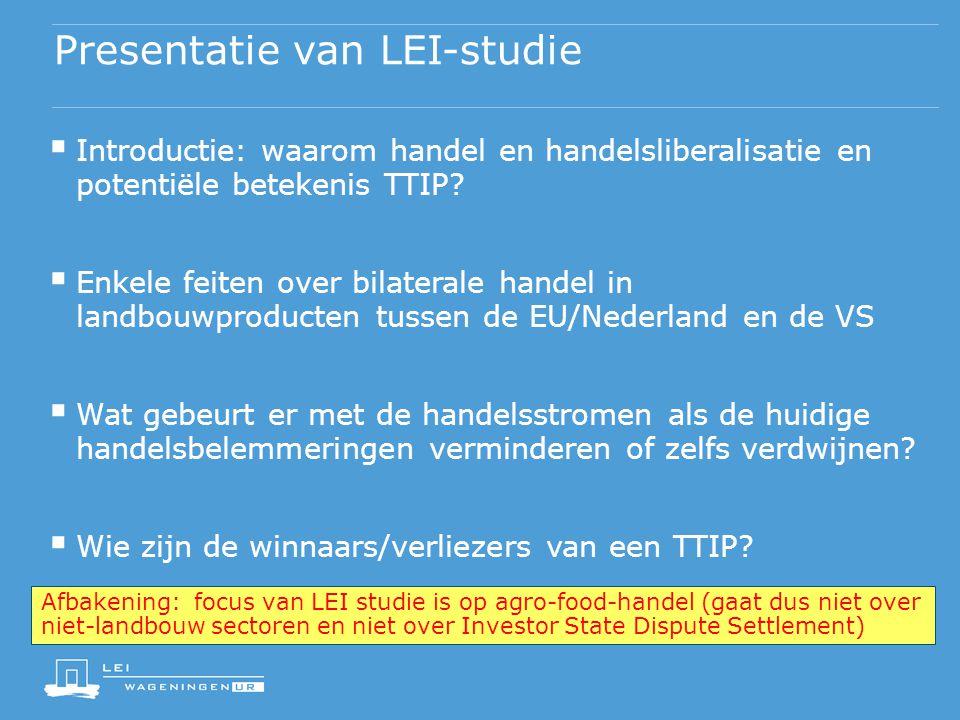 Presentatie van LEI-studie