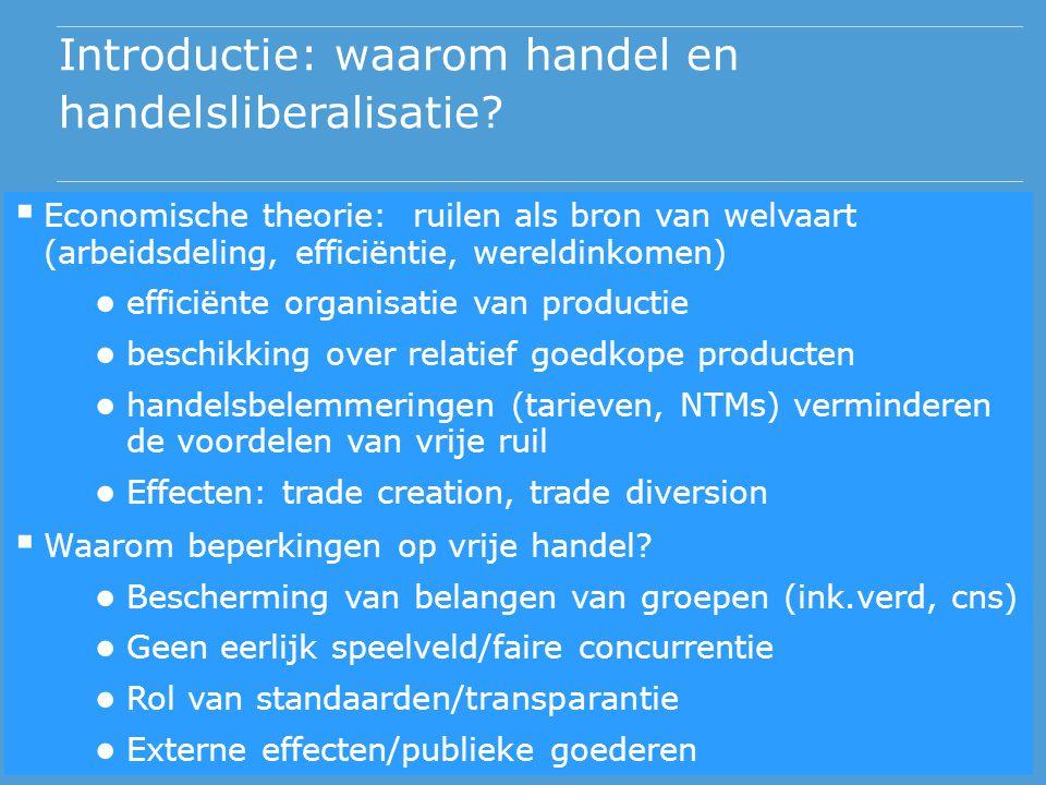 Introductie: waarom handel en handelsliberalisatie