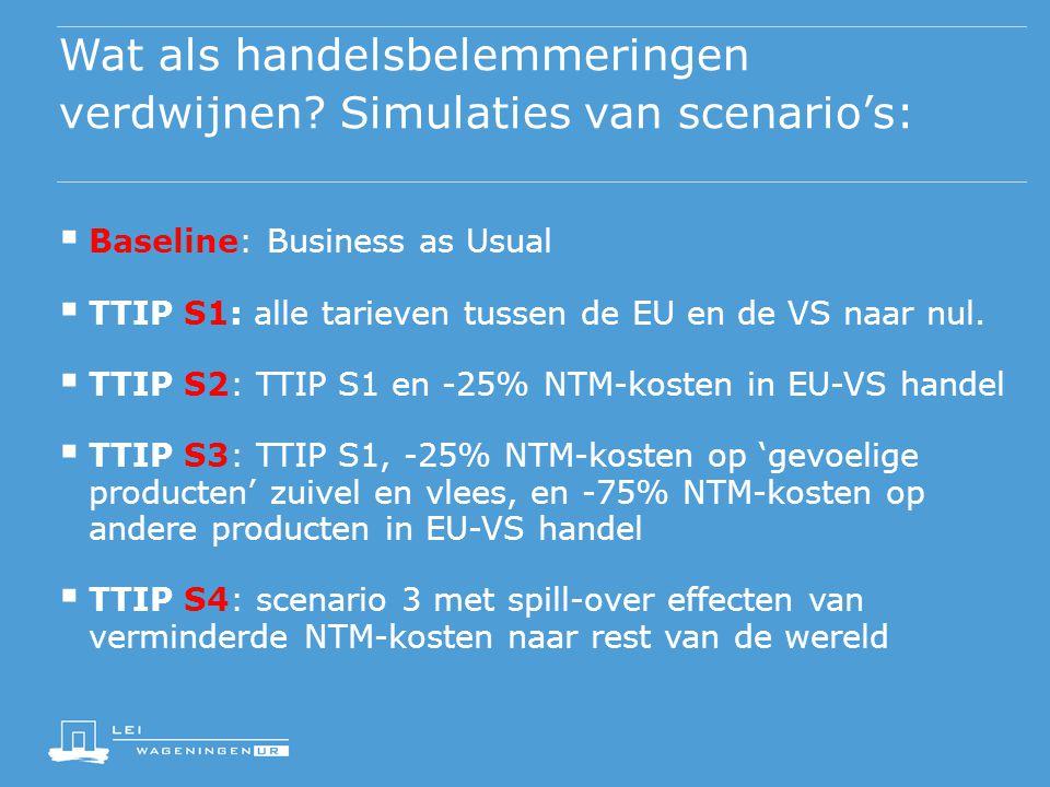 Wat als handelsbelemmeringen verdwijnen Simulaties van scenario's: