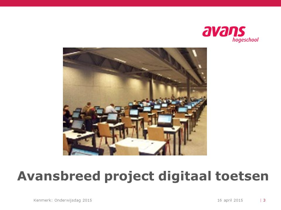 Avansbreed project digitaal toetsen
