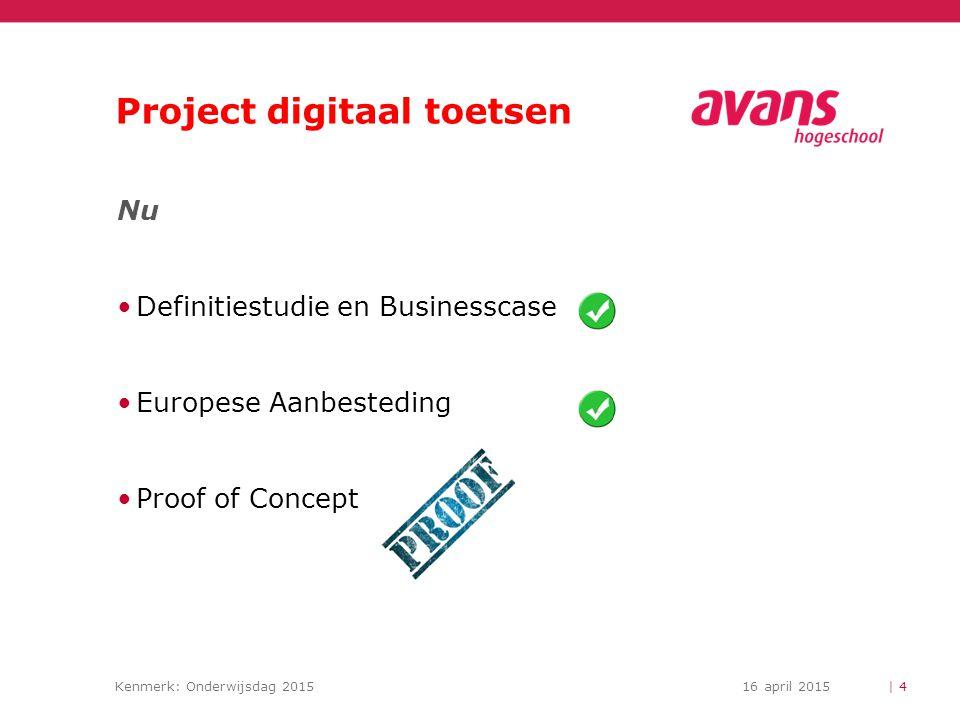 Project digitaal toetsen