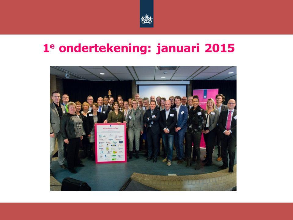1e ondertekening: januari 2015