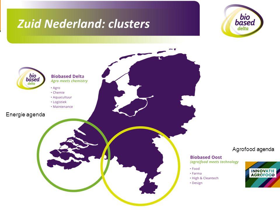 Zuid Nederland: clusters
