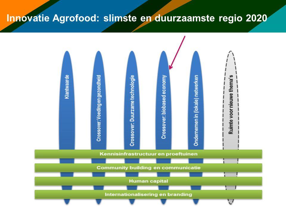 Innovatie Agrofood: slimste en duurzaamste regio 2020