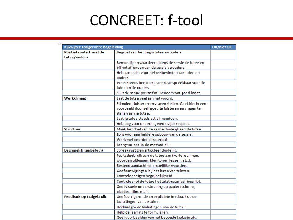 CONCREET: f-tool