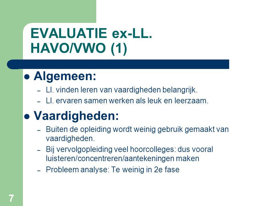 EVALUATIE ex-LL. HAVO/VWO (1)