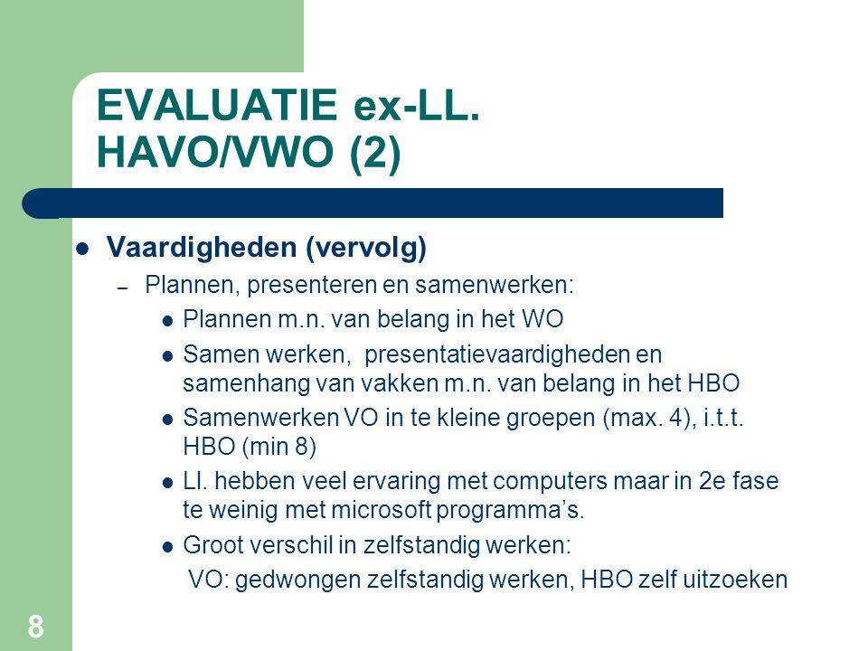 EVALUATIE ex-LL. HAVO/VWO (2)