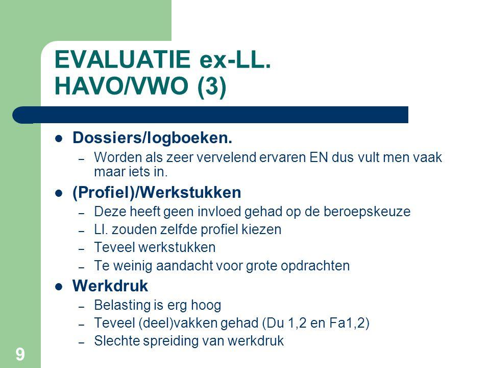 EVALUATIE ex-LL. HAVO/VWO (3)