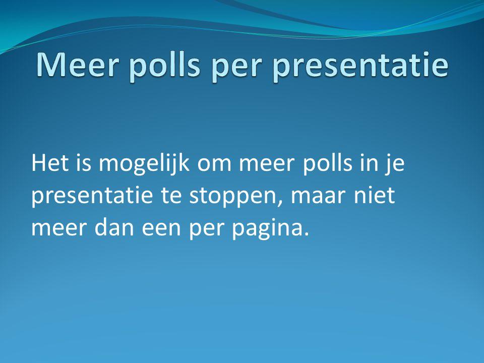 Meer polls per presentatie