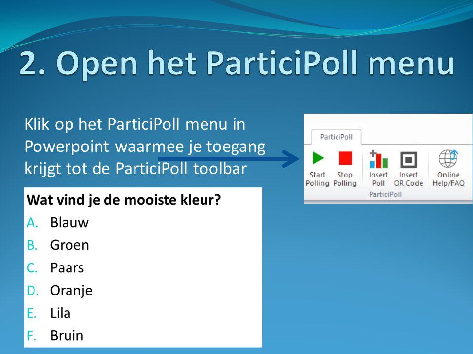 2. Open het ParticiPoll menu