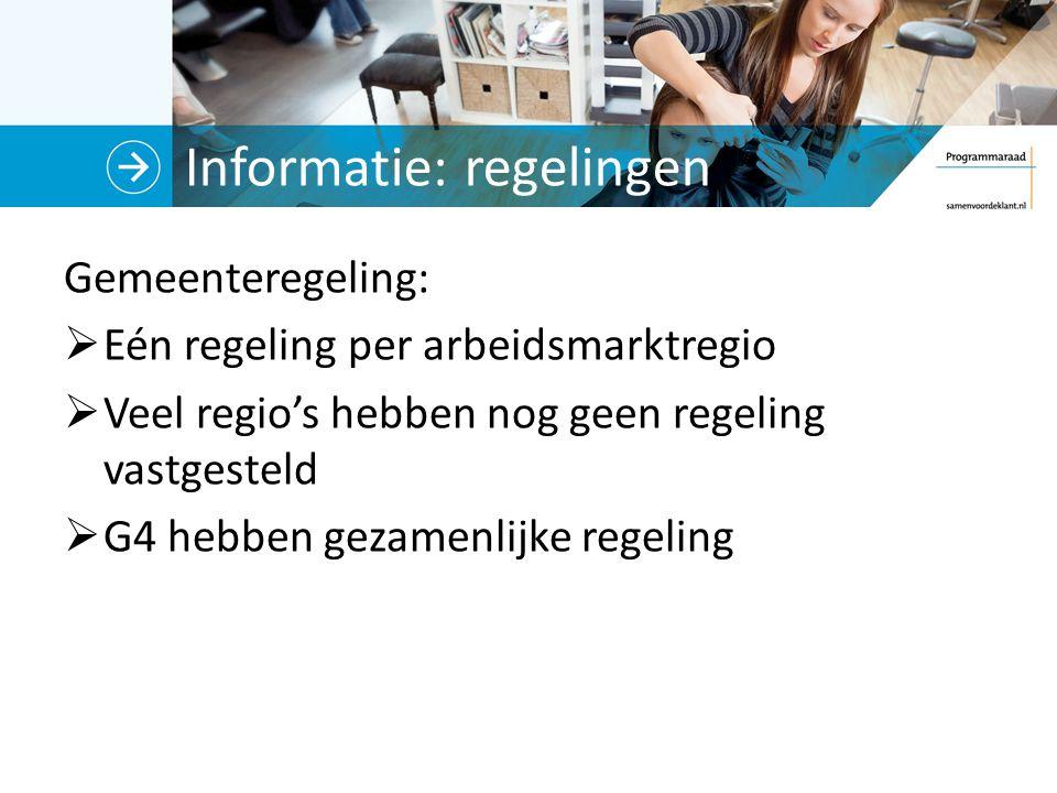 Informatie: regelingen