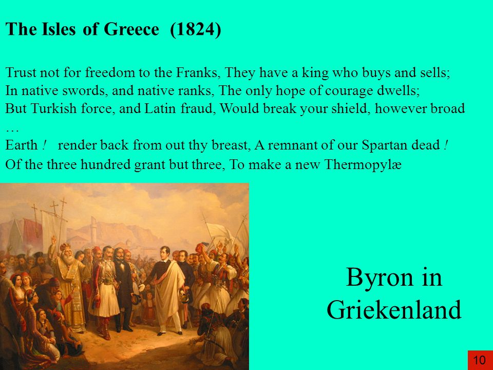 Byron in Griekenland The Isles of Greece (1824)