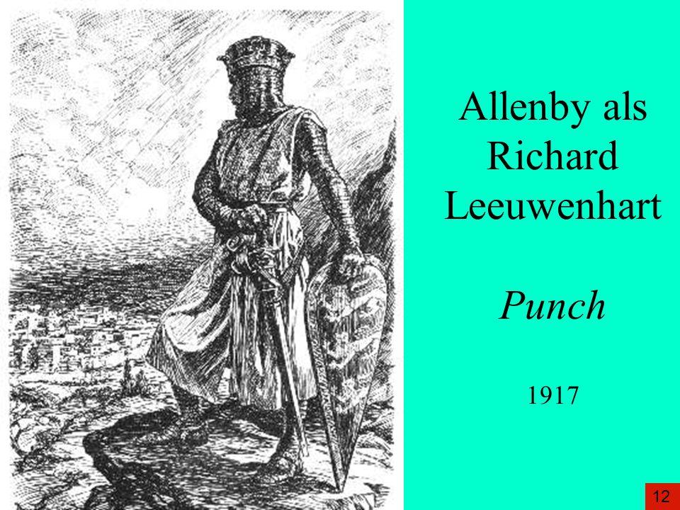 Allenby als Richard Leeuwenhart Punch 1917