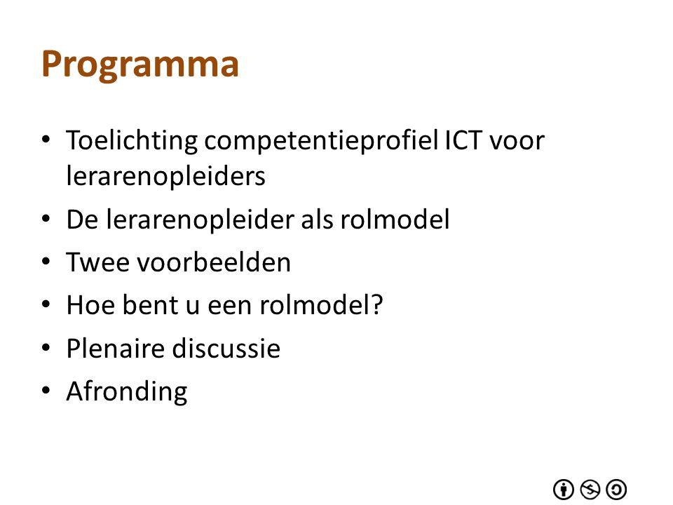 Programma Toelichting competentieprofiel ICT voor lerarenopleiders