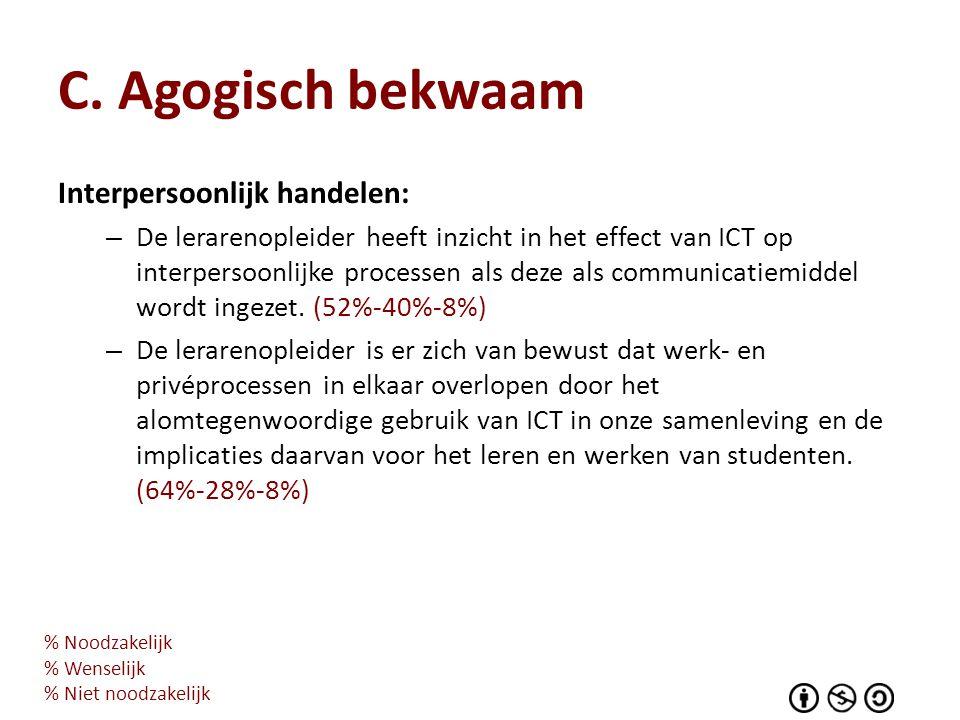 C. Agogisch bekwaam Interpersoonlijk handelen: