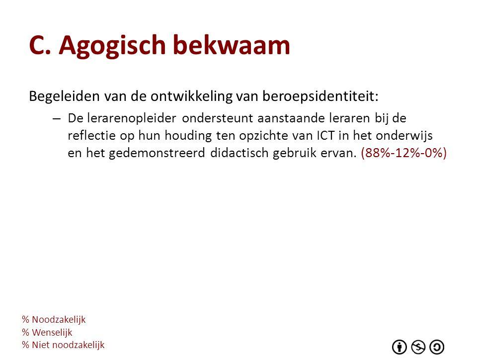 C. Agogisch bekwaam Begeleiden van de ontwikkeling van beroepsidentiteit:
