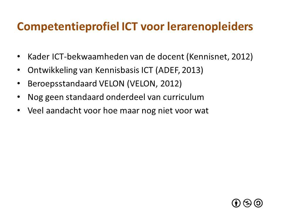 Competentieprofiel ICT voor lerarenopleiders