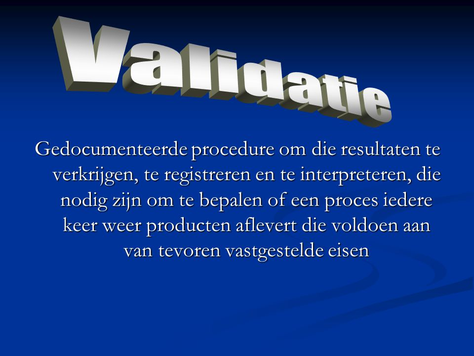 Validatie