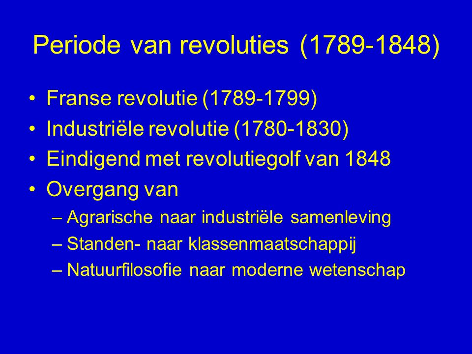 Periode van revoluties (1789-1848)