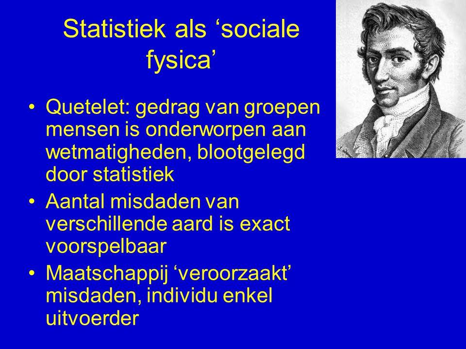 Statistiek als 'sociale fysica'