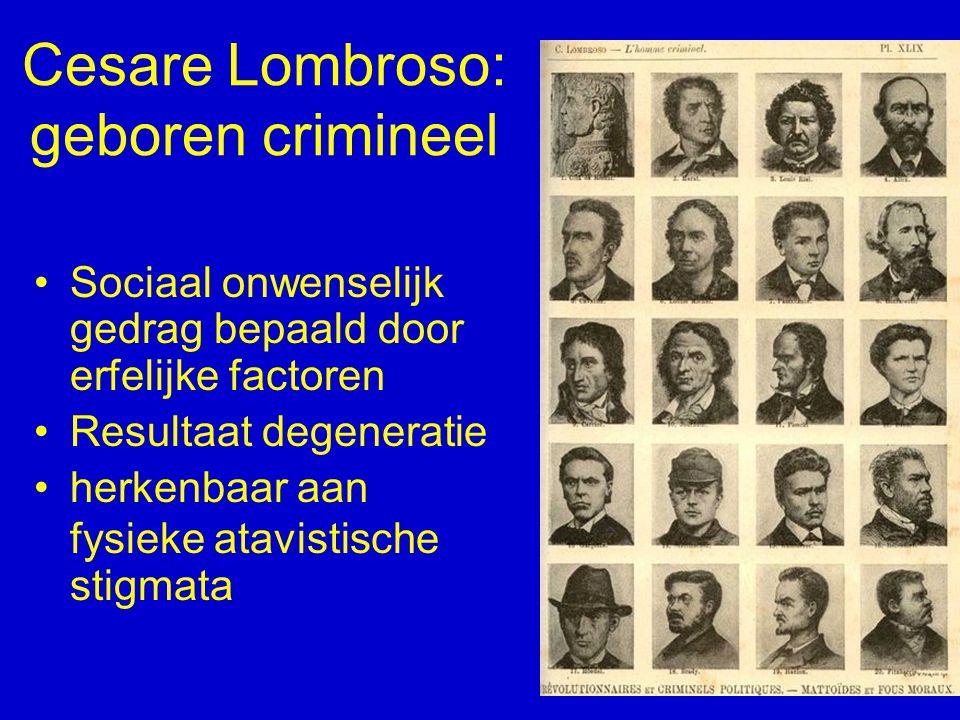 Cesare Lombroso: geboren crimineel