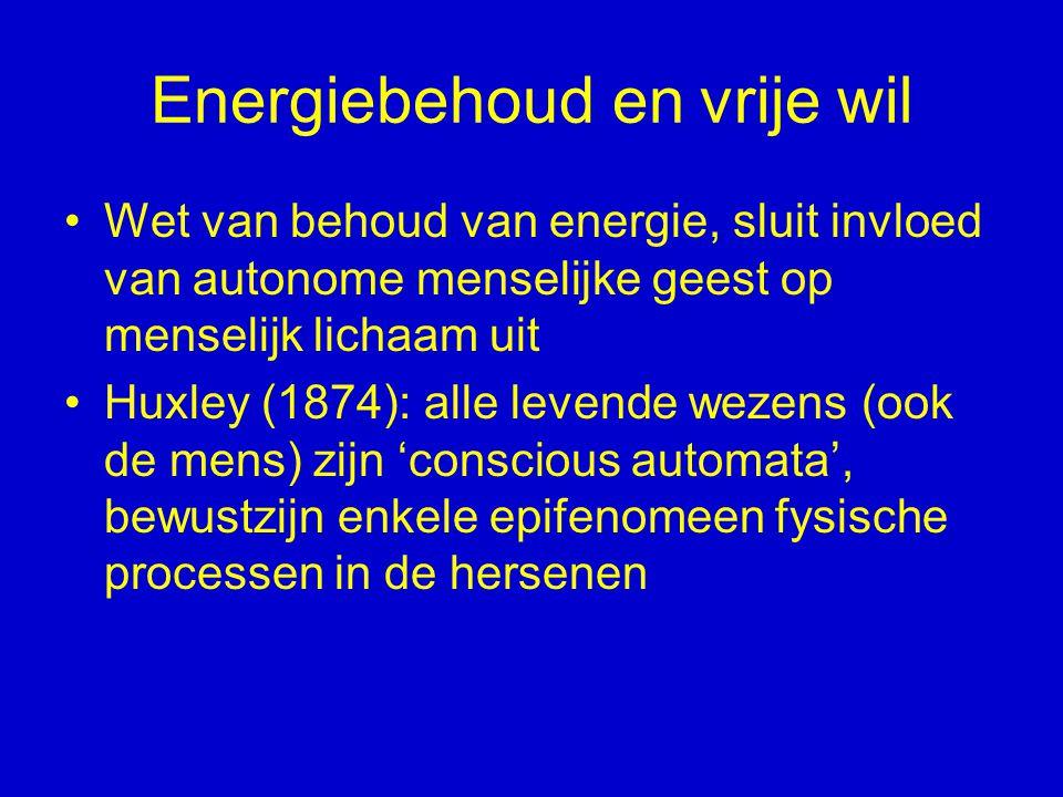Energiebehoud en vrije wil