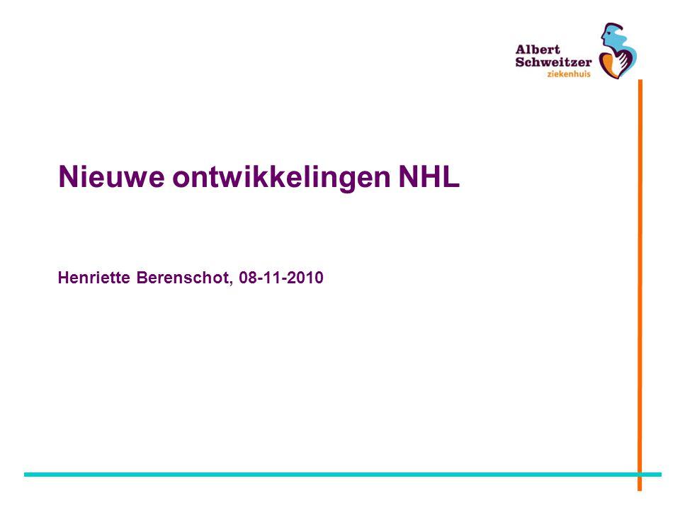 Nieuwe ontwikkelingen NHL Henriette Berenschot, 08-11-2010