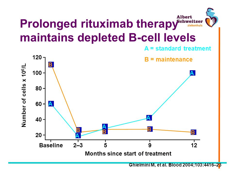 Prolonged rituximab therapy maintains depleted B-cell levels