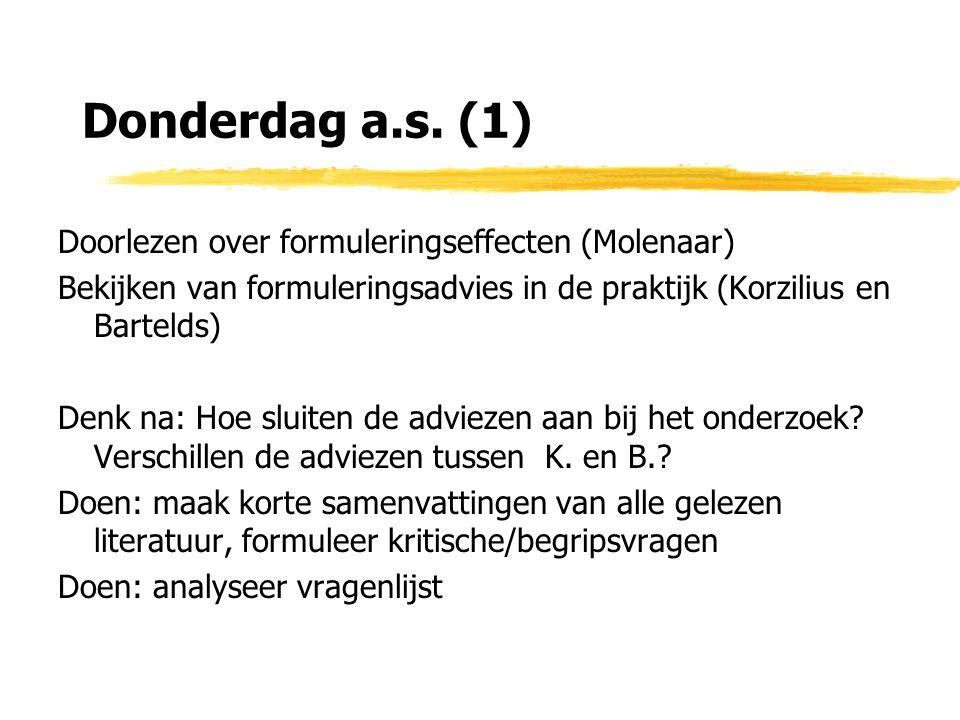 Donderdag a.s. (1) Doorlezen over formuleringseffecten (Molenaar)