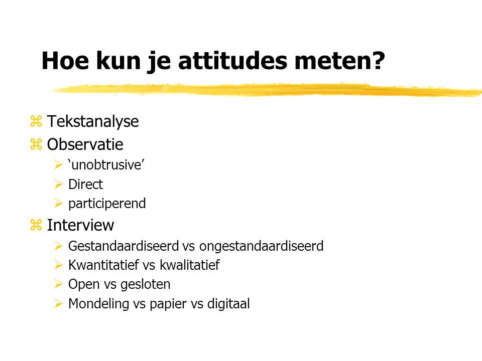 Hoe kun je attitudes meten