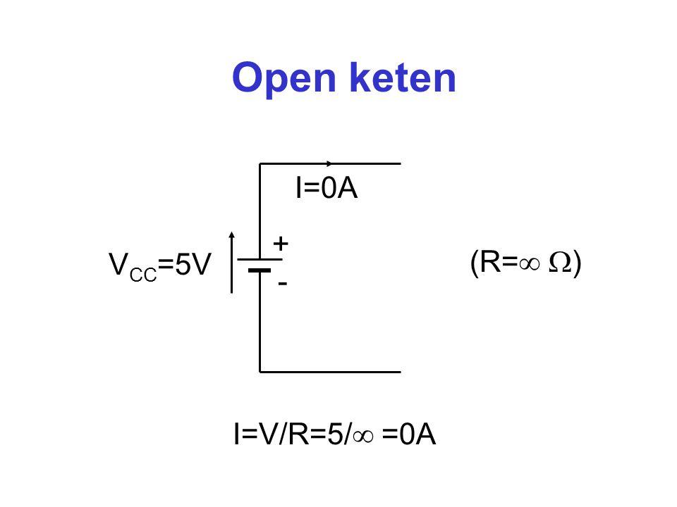 Open keten I=0A + (R= ) VCC=5V - I=V/R=5/ =0A