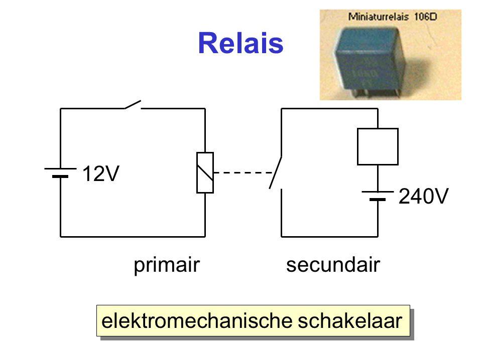 Relais 240V 12V primair secundair elektromechanische schakelaar
