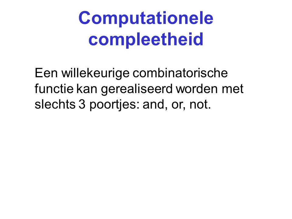 Computationele compleetheid