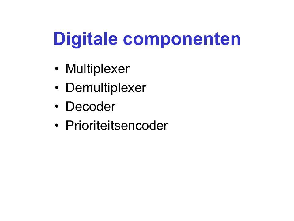 Digitale componenten Multiplexer Demultiplexer Decoder