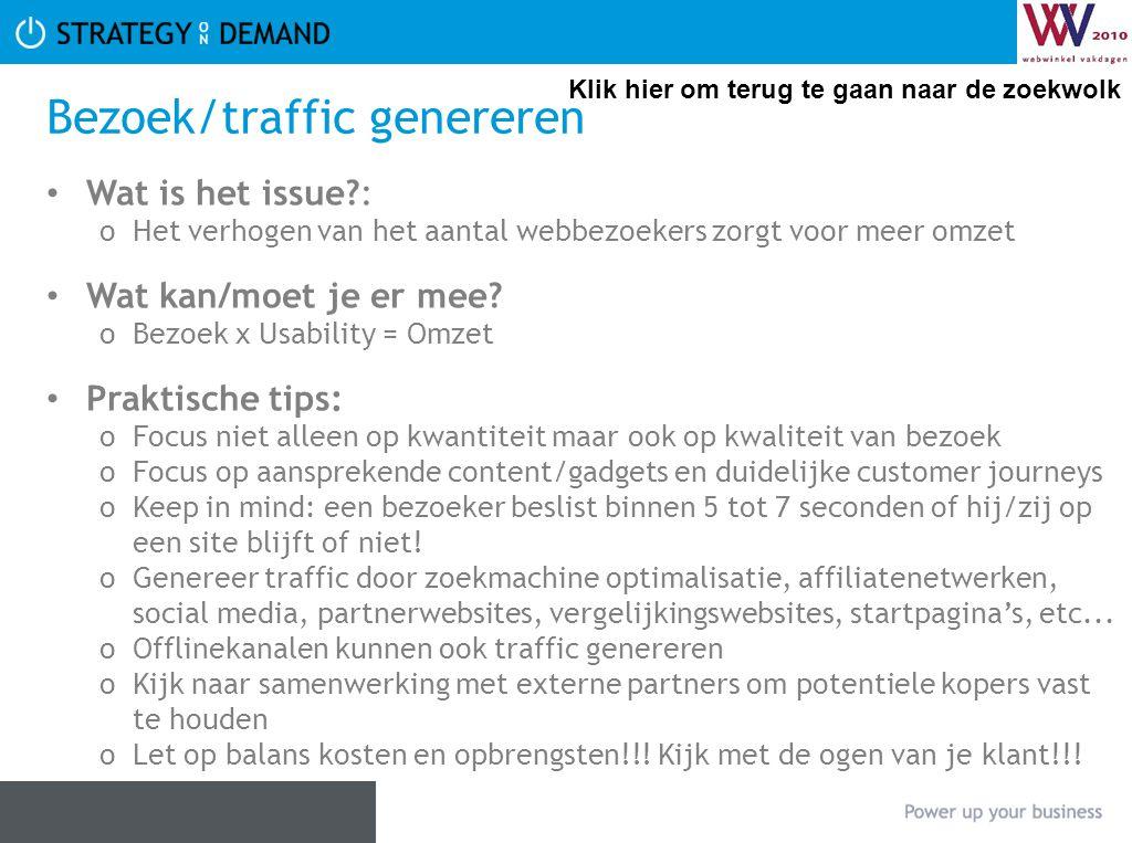 Bezoek/traffic genereren