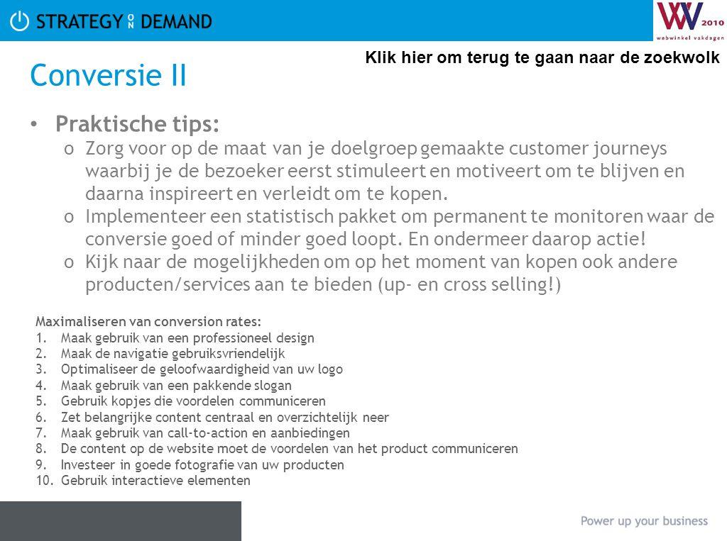 Conversie II Praktische tips: