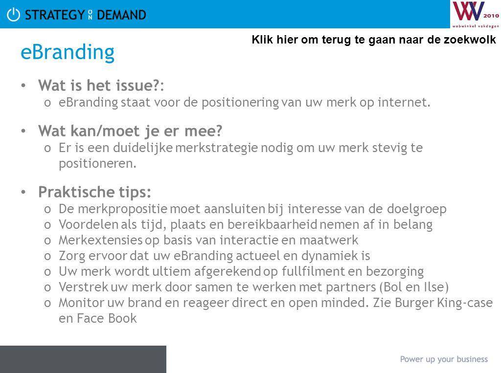eBranding Wat is het issue : Wat kan/moet je er mee Praktische tips: