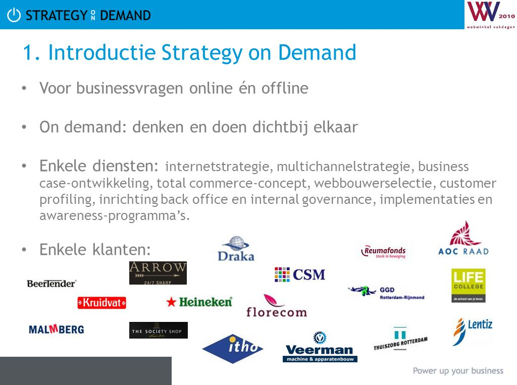 1. Introductie Strategy on Demand