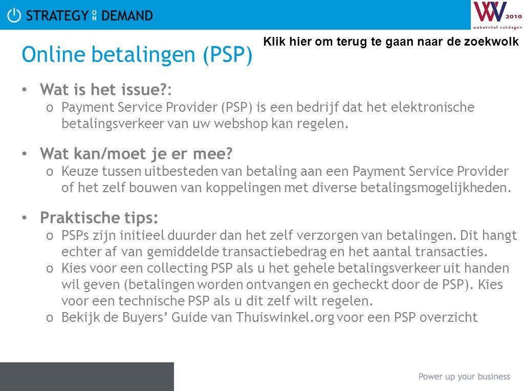 Online betalingen (PSP)