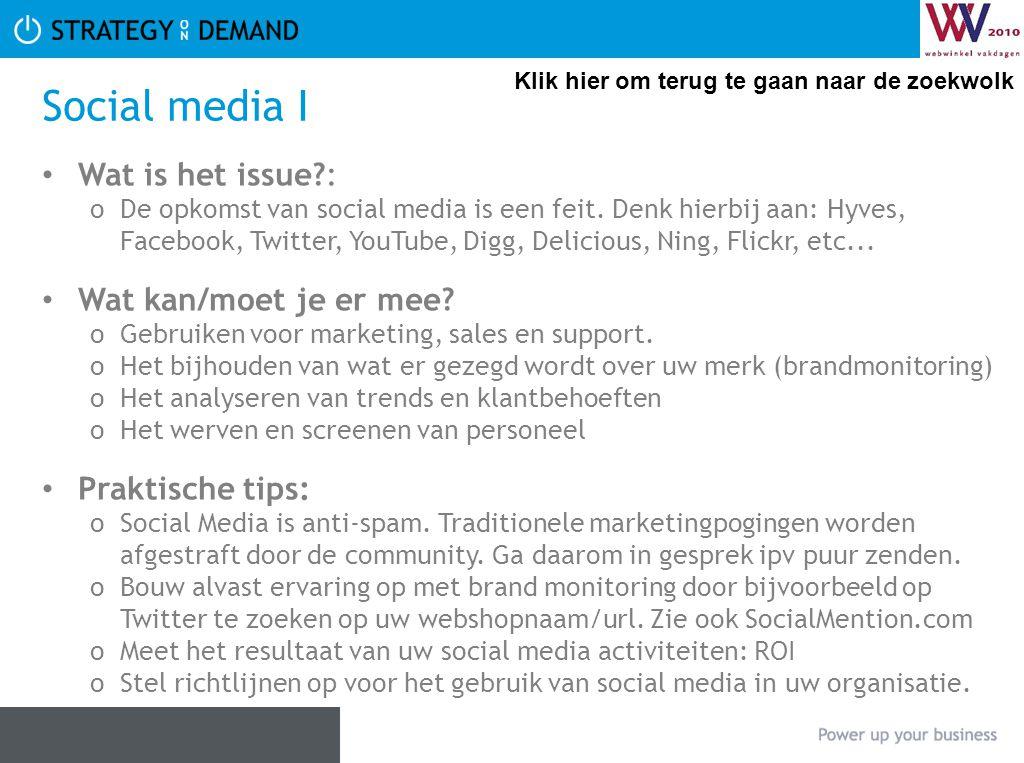 Social media I Wat is het issue : Wat kan/moet je er mee