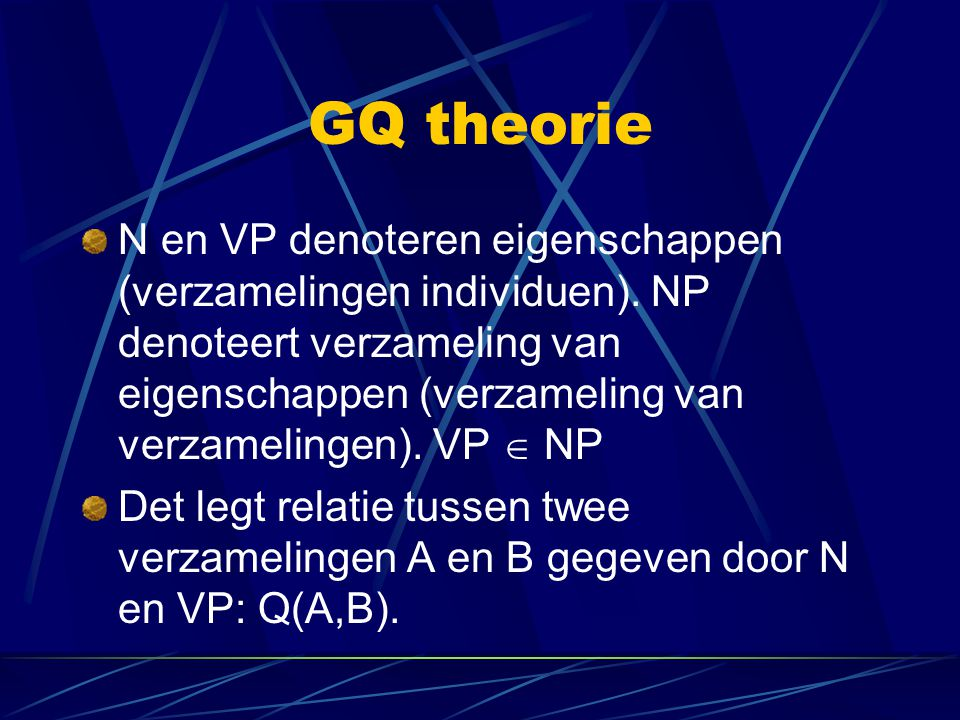GQ theorie