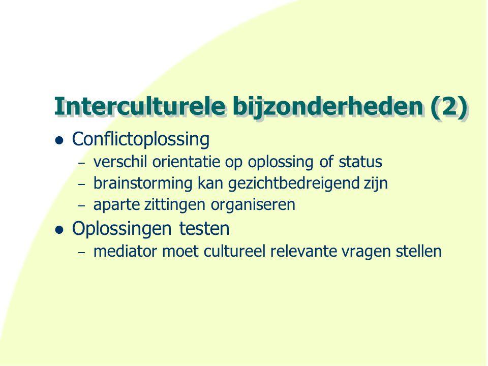 Interculturele bijzonderheden (2)